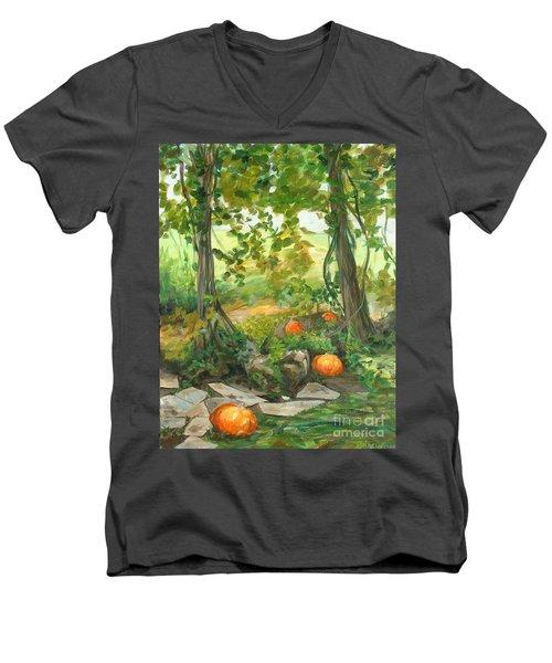 Heidi's Pumpkins Men's V-Neck T-Shirt