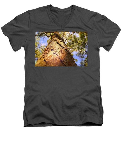 Height Men's V-Neck T-Shirt by Cassandra Buckley