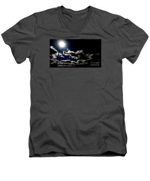 Men's V-Neck T-Shirt featuring the photograph Heinlein's Horizon by Jesse Ciazza