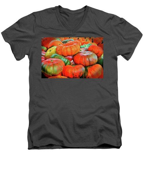Heirloom Pumpkins Men's V-Neck T-Shirt