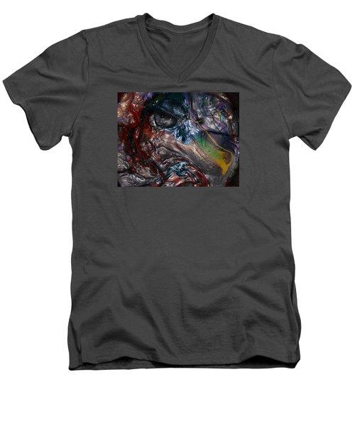 Helicopter Blade Smile Men's V-Neck T-Shirt by Gyula Julian Lovas