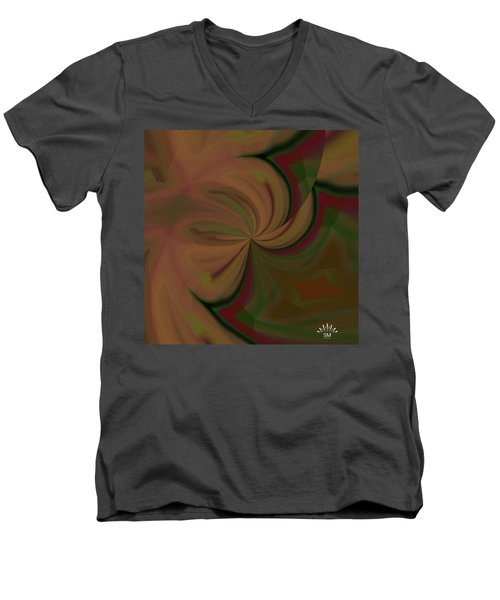 Helix Art  Design  Men's V-Neck T-Shirt