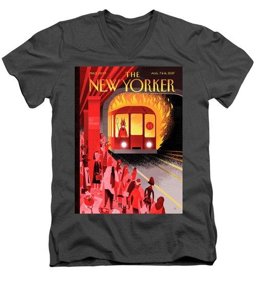 Hell Train Men's V-Neck T-Shirt