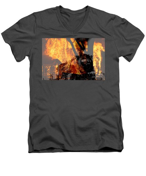 Hell Train Men's V-Neck T-Shirt