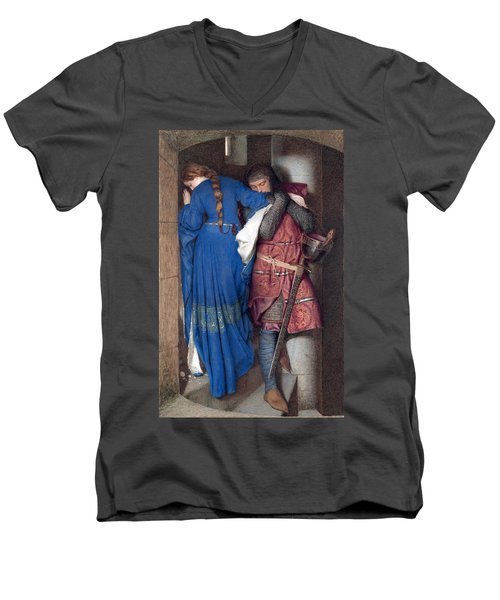 Hellelil And Hildebrand Or The Meeting On The Turret Stairs Men's V-Neck T-Shirt