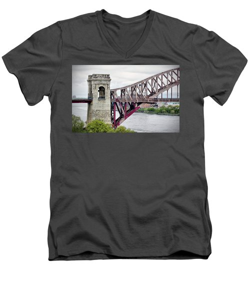 Hellgate In Grey Men's V-Neck T-Shirt