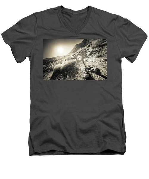 Hellhole Canyon Warning Men's V-Neck T-Shirt