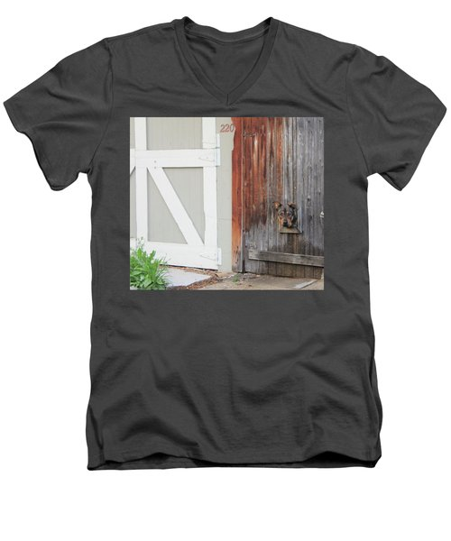 Men's V-Neck T-Shirt featuring the photograph Hello, Comet by Christin Brodie