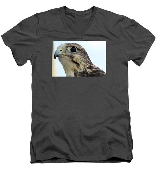 Hello Men's V-Neck T-Shirt by David Stasiak