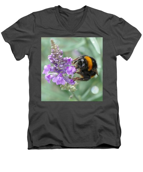 Men's V-Neck T-Shirt featuring the photograph Hello Flower by Ivana Westin