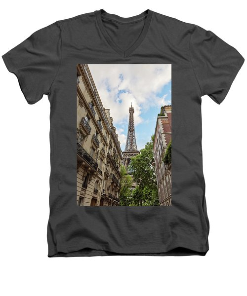 Hello, Paris Men's V-Neck T-Shirt