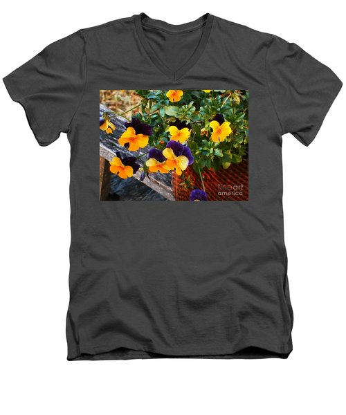Hello Spring Men's V-Neck T-Shirt by Donna Dixon