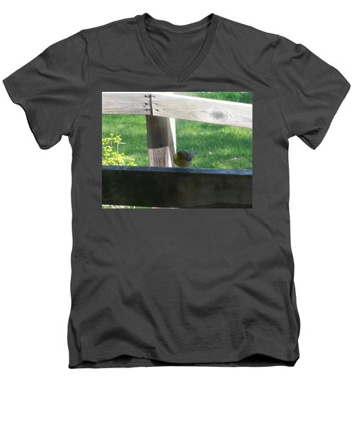 Men's V-Neck T-Shirt featuring the photograph Hello by Wendy Shoults