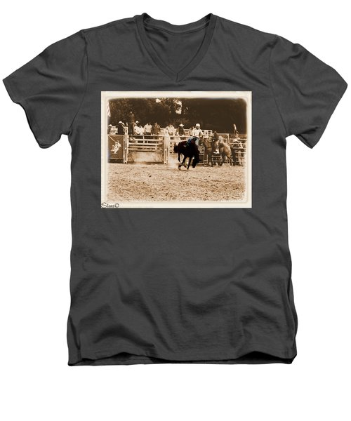 Helluva Rodeo-the Ride 2 Men's V-Neck T-Shirt