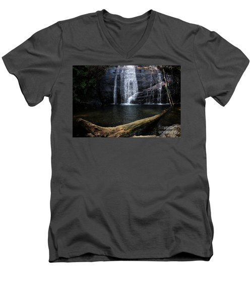 Helton Creek Falls Georgia Men's V-Neck T-Shirt