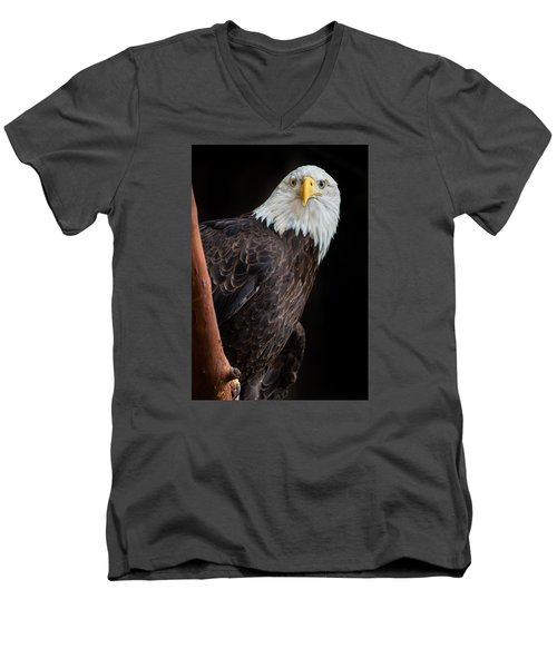 Her Majesty Men's V-Neck T-Shirt by Greg Nyquist