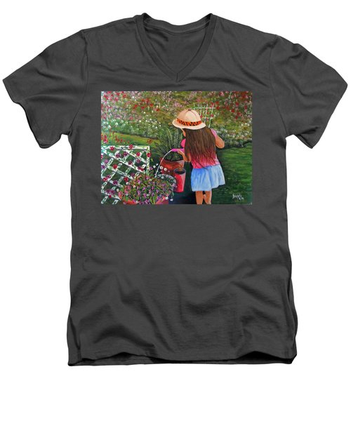 Her Secret Garden Men's V-Neck T-Shirt