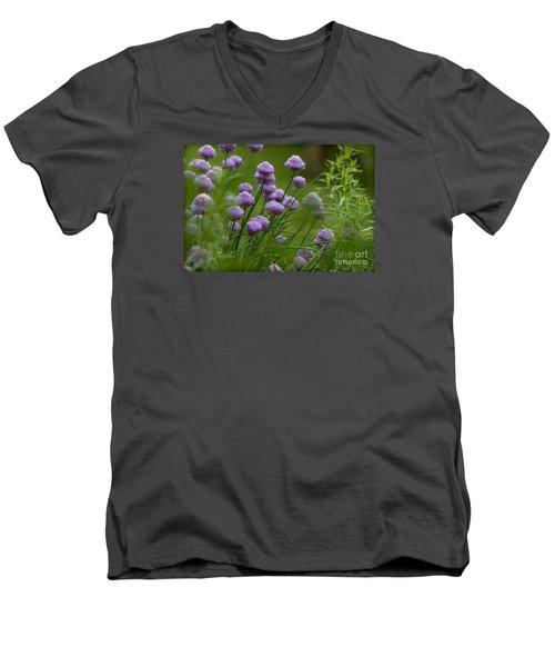 Herb Garden. Men's V-Neck T-Shirt by Clare Bambers