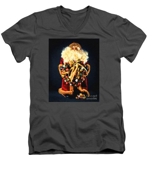 Here Comes Santa Men's V-Neck T-Shirt by Chris Armytage
