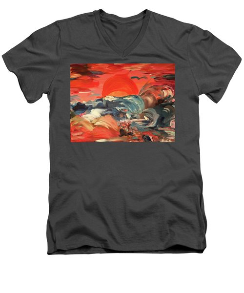 Here Comes The Weekend Aka Indian Rocks Beach Sunset Men's V-Neck T-Shirt
