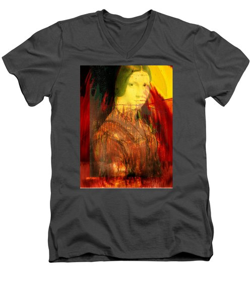 Here Is Paint In Your Eye Men's V-Neck T-Shirt by Seth Weaver