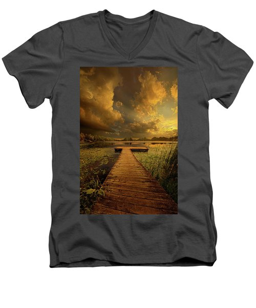 Men's V-Neck T-Shirt featuring the photograph Here Nothing Else Matters by Phil Koch