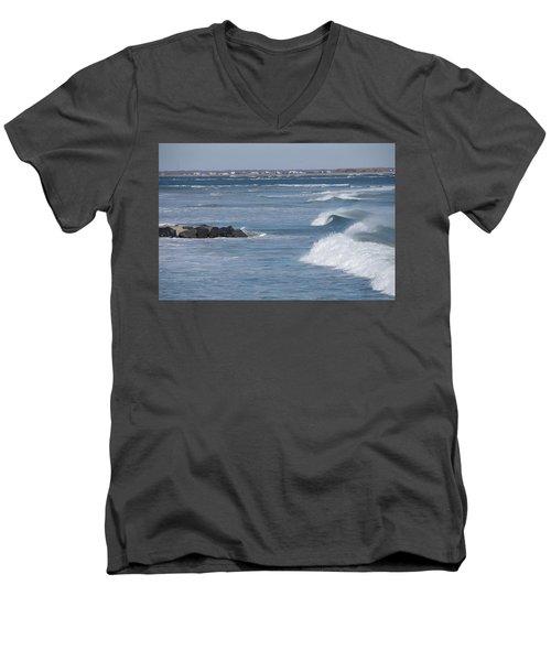 Hereford Inlet Men's V-Neck T-Shirt by Greg Graham