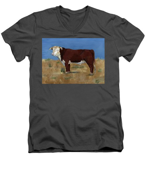 Hereford Men's V-Neck T-Shirt