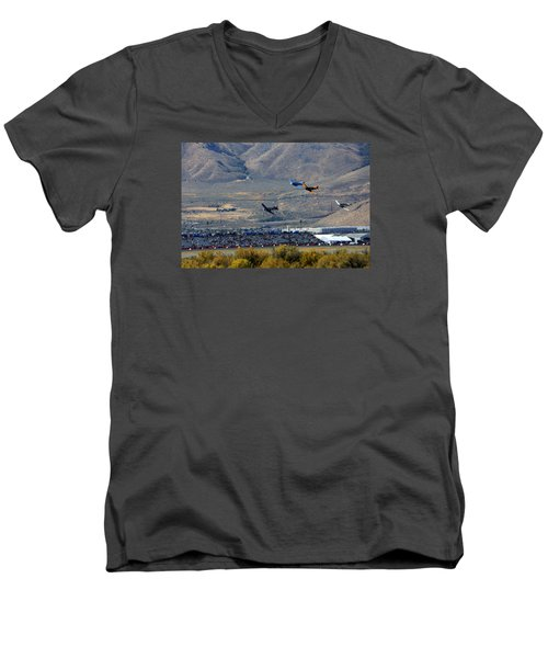 Here's Looking Back At You.  T6 Race. Men's V-Neck T-Shirt