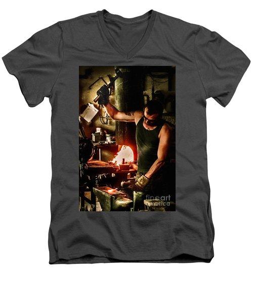 Heritage Blacksmith Men's V-Neck T-Shirt