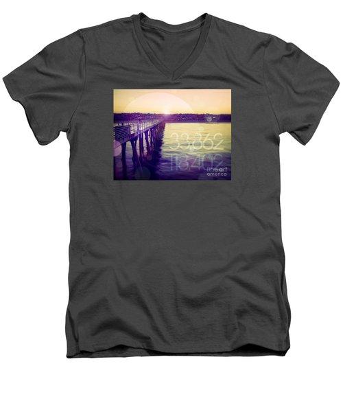 Hermosa Beach California Men's V-Neck T-Shirt