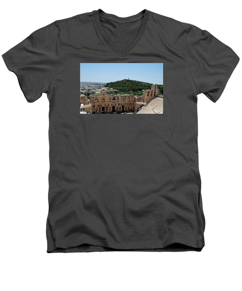 Herodeons Amphitheatre Men's V-Neck T-Shirt