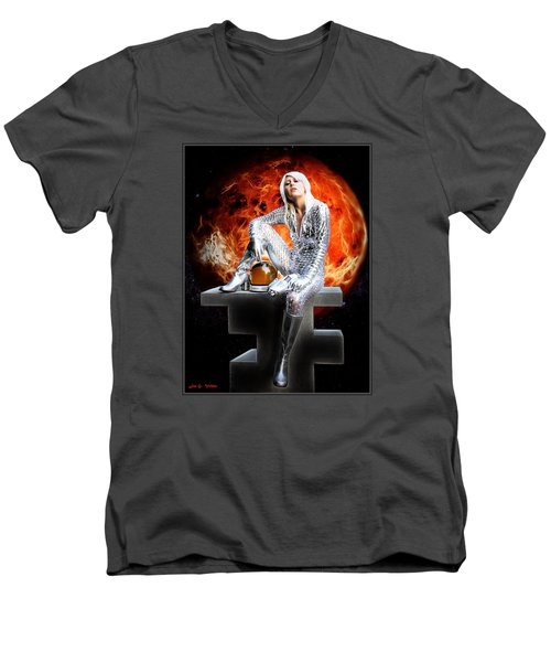 Heroine Of The Red Planet Men's V-Neck T-Shirt