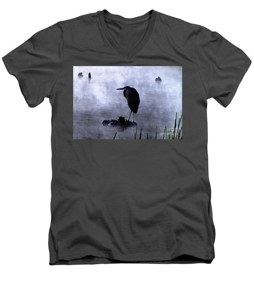 Heron 4 Men's V-Neck T-Shirt