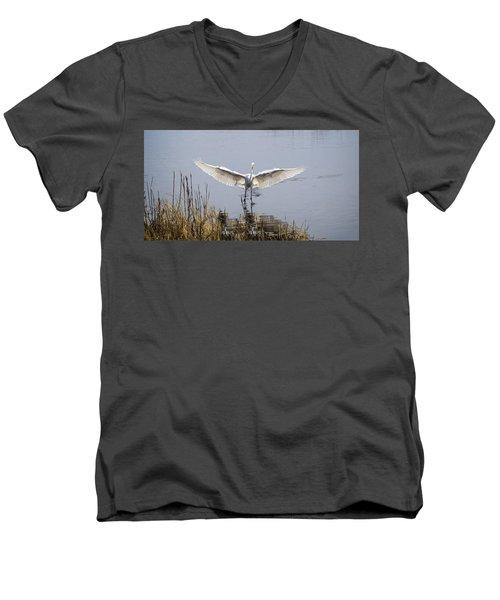 Heron Landing Men's V-Neck T-Shirt