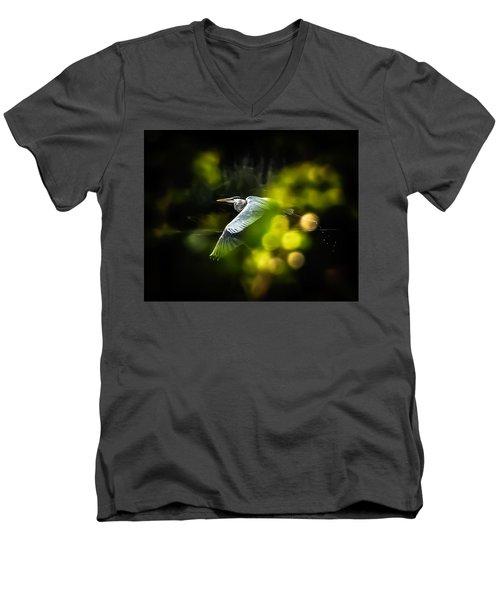 Heron Launch Men's V-Neck T-Shirt