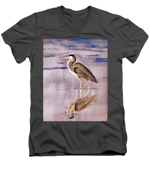 Heron No. 2 Men's V-Neck T-Shirt