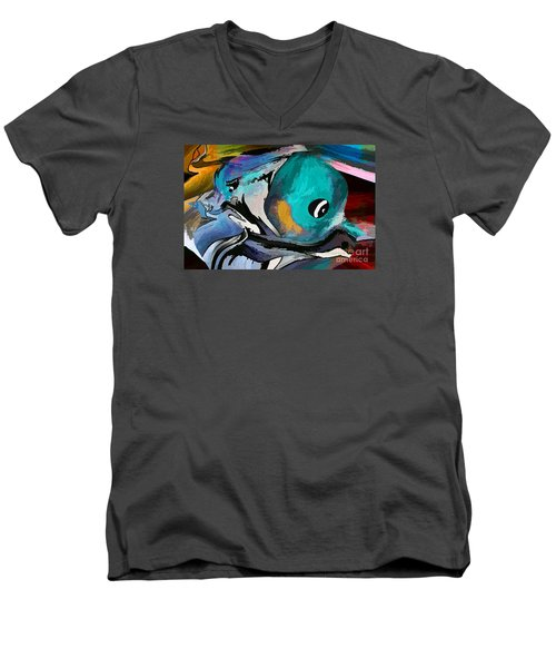 Hey Guy I Am Silly Willy The Fish Men's V-Neck T-Shirt