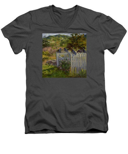 Hey Look Here Men's V-Neck T-Shirt by Jane Thorpe