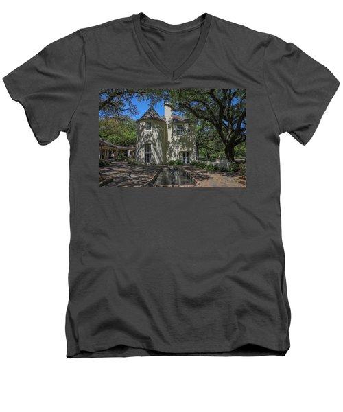 Heyman House Fountain Men's V-Neck T-Shirt