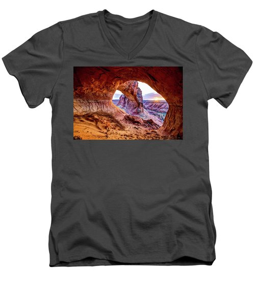 Hidden Alcove Men's V-Neck T-Shirt by Chad Dutson