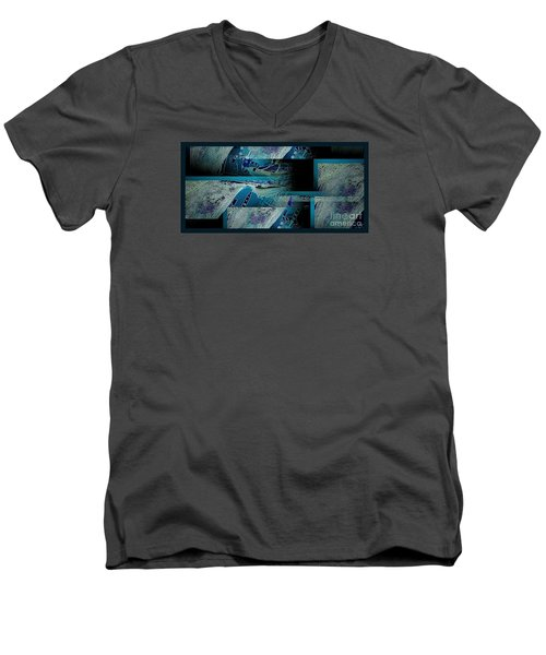 Men's V-Neck T-Shirt featuring the photograph Hidden Gecko  by Pamela Blizzard