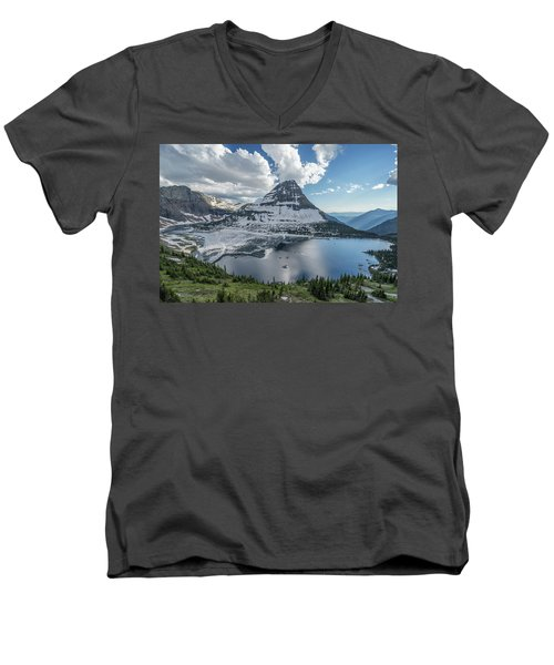 Hidden Lake Men's V-Neck T-Shirt by Alpha Wanderlust