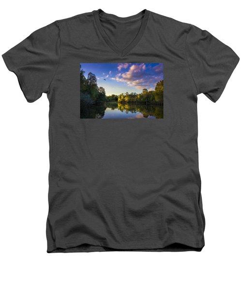 Hidden Light Men's V-Neck T-Shirt