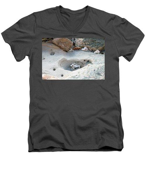 Hidden Shells On Bimini Beach Men's V-Neck T-Shirt