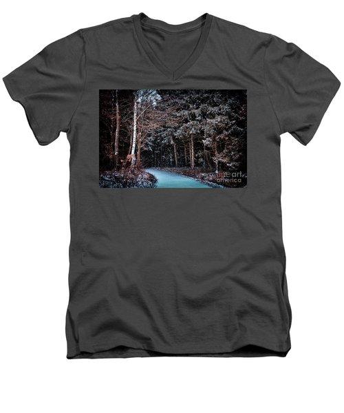 Hidden Steps At Dawn Men's V-Neck T-Shirt
