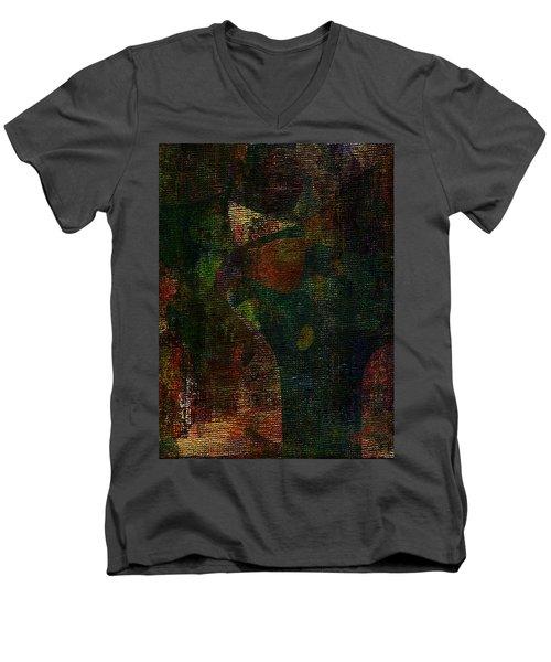 Hidden Men's V-Neck T-Shirt by The Art Of JudiLynn