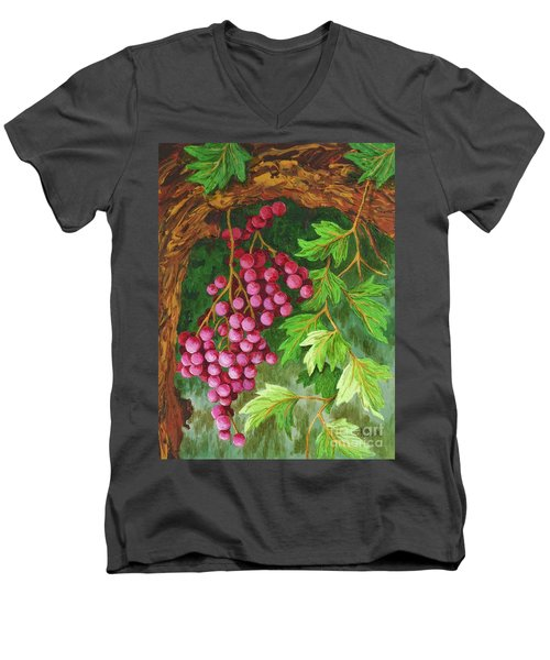 Men's V-Neck T-Shirt featuring the painting Hidden Treasure by Katherine Young-Beck
