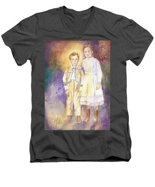 Hidden Treasures Men's V-Neck T-Shirt by Tara Moorman