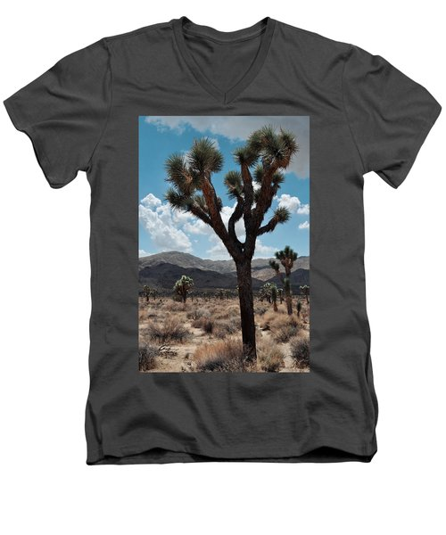 Hidden Valley Joshua Tree Portrait Men's V-Neck T-Shirt by Kyle Hanson